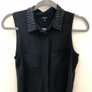 Madewell sleeveless silk blouse